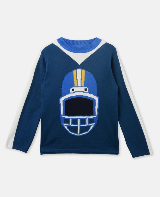 Ryde Blue Knit Helmet Sweater