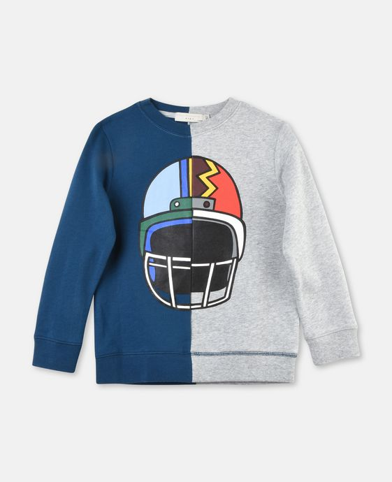 Biz Ice Hockey Helmet Print Sweatshirt