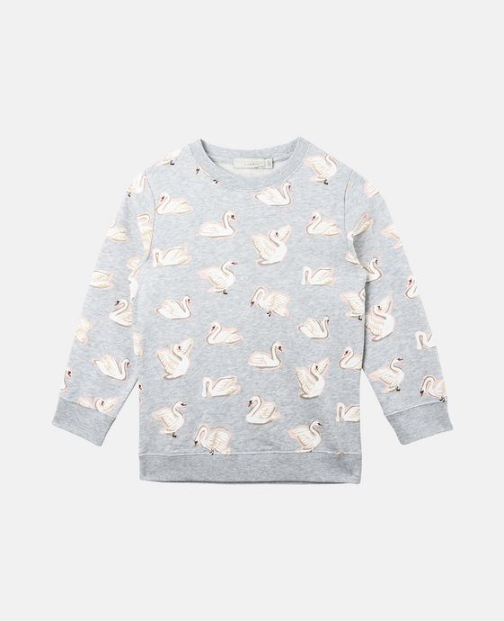Betty All-Over Swan Print Sweatshirt