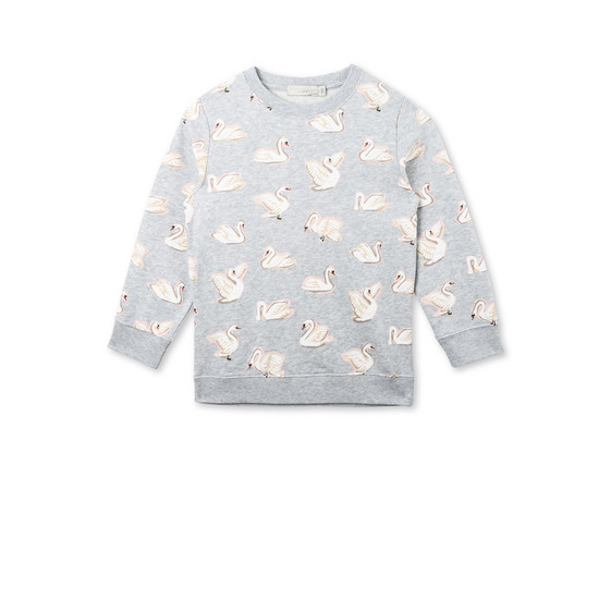 Betty All-Over Swan Print Jumper