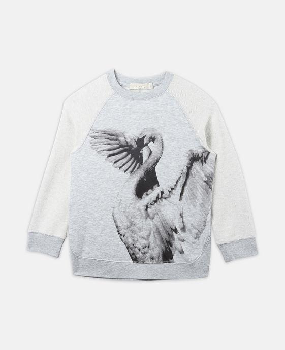 Oyster Swan Print Sweatshirt