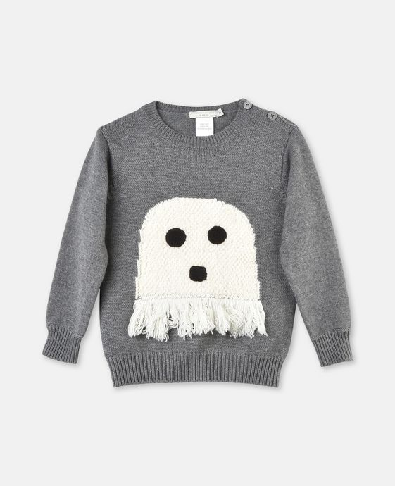 Ashton Grey Knit Ghost Jumper