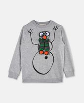 Biz Unisex Gray Christmas Sweater