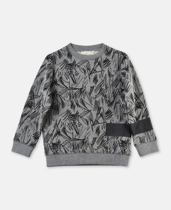 Biz Gray Scribble Sweater