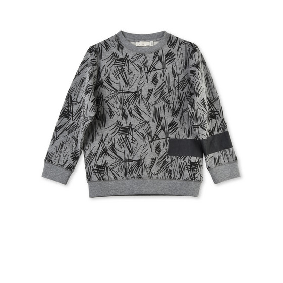 Biz Grey Scribble Jumper