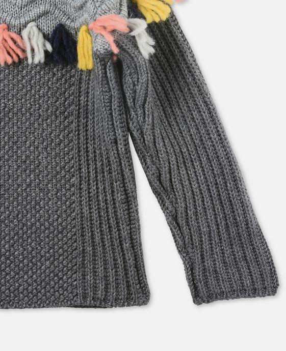 STELLA McCARTNEY KIDS Tangerine Gray Tassel Sweater Jumpers & Cardigans D g