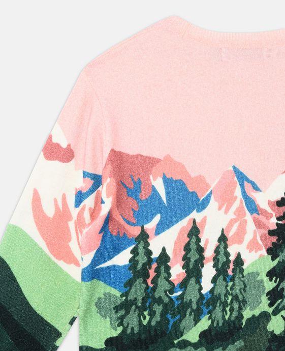 STELLA McCARTNEY KIDS Cassius Pink Mountain Print Knit Sweater Jumpers & Cardigans D g
