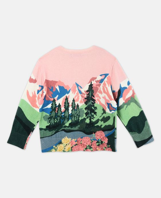 STELLA McCARTNEY KIDS Cassius Pink Mountain Print Knit Sweater Jumpers & Cardigans D i