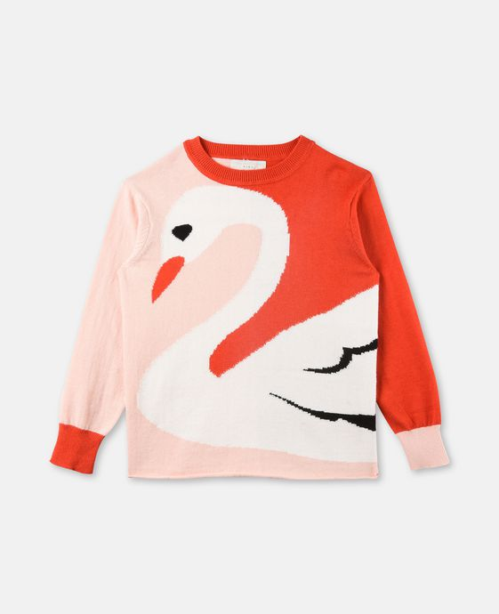 Lucky Pink Swan Knit Sweater