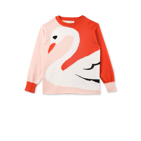 Lucky Pink Swan Knit Jumper