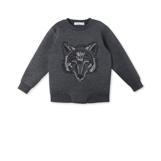 Reeve Gray Wolf Sweater