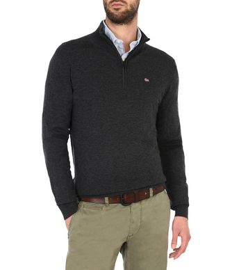 NAPAPIJRI DAMAVAND ZIP MAN ZIP SWEATER,STEEL GREY