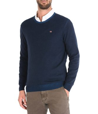 NAPAPIJRI DAKSHIN CREW MAN CREWNECK SWEATER,DARK BLUE