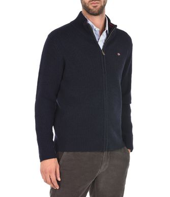 NAPAPIJRI DIGHIL FULL ZIP MAN ZIP SWEATER,DARK BLUE