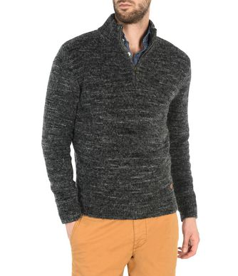 NAPAPIJRI DOTLAN MAN ZIP SWEATER,STEEL GREY