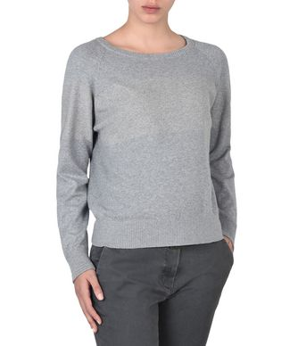NAPAPIJRI DELIE WOMAN LONG SLEEVE SWEATER,LIGHT GREY