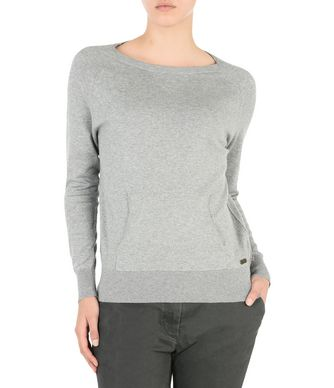 NAPAPIJRI DAME CANGAROO POCKETS WOMAN LONG SLEEVE SWEATER,LIGHT GREY