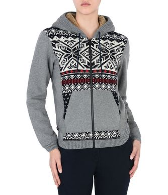 NAPAPIJRI DAKETI WOMAN ZIP SWEATER,GREY