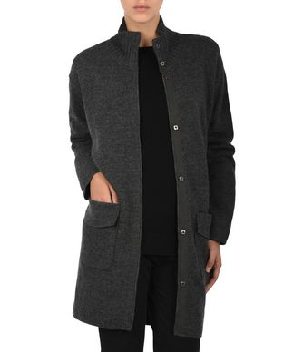 NAPAPIJRI AUK WOMAN LONG JACKET,GREY