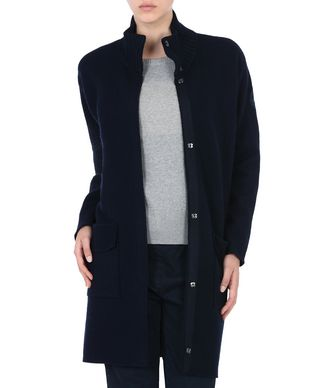 NAPAPIJRI AUK WOMAN LONG JACKET,DARK BLUE