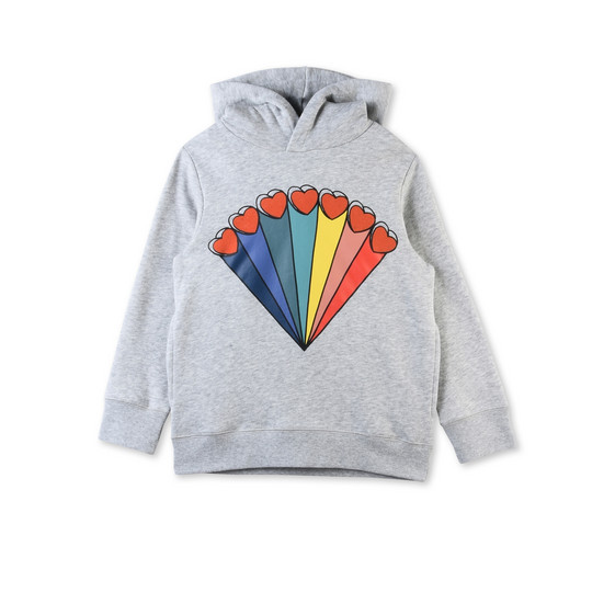 Heath Grey Rainbow and Hearts Printed Jumper
