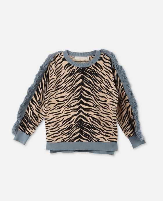 Alex Tiger Print Knit Sweater