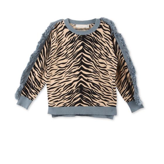 Alex Tiger Print Knit Jumper