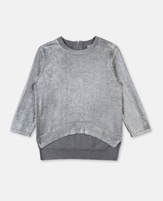 STELLA McCARTNEY KIDS Jewel Silver Coated Sweater Jumpers & Cardigans D c