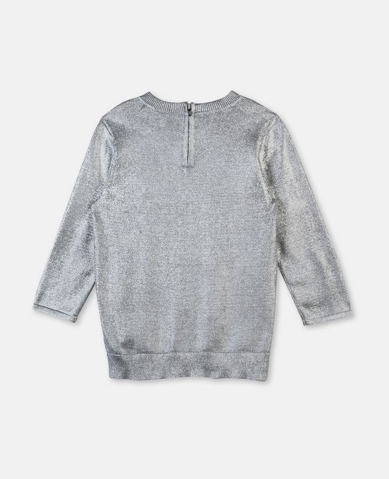 STELLA McCARTNEY KIDS Jewel Silver Coated Sweater Jumpers & Cardigans D i
