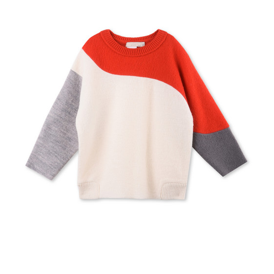 Radish White Knit Jumper