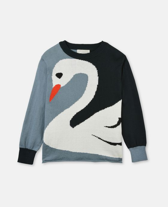Lucky Blue Swan Knit Sweater