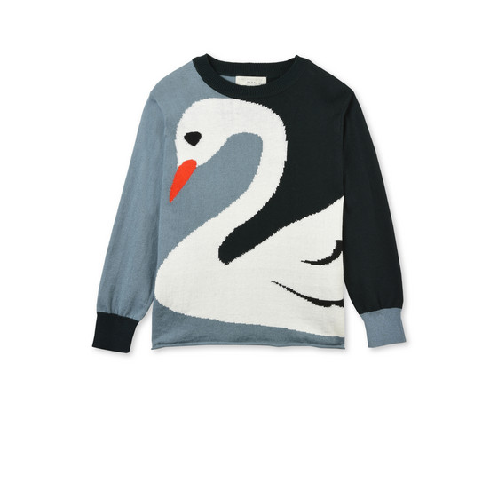 Lucky Blue Swan Knit Jumper