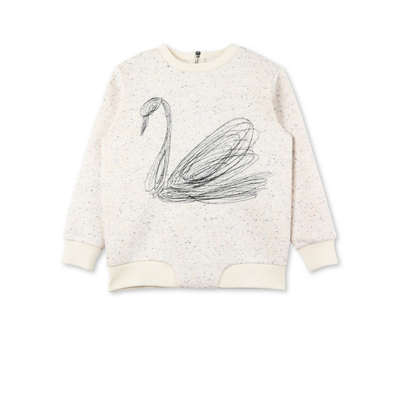 Reeve Swan Embroidered Jumper
