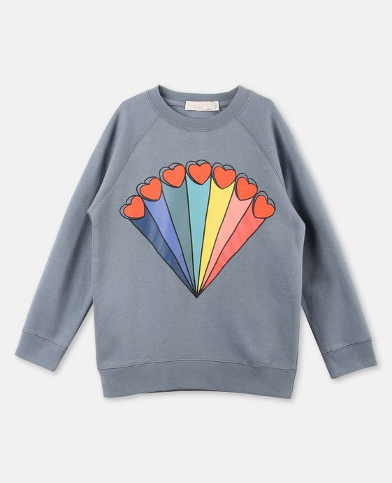 Betty Rainbow and Hearts Print Sweater