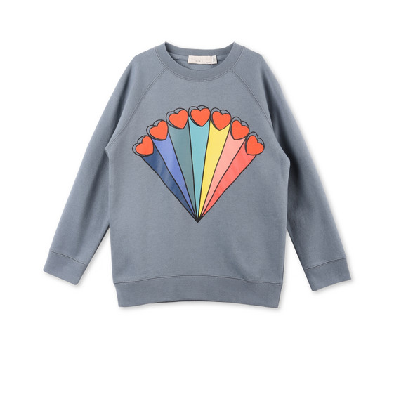 Betty Rainbow and Hearts Print Jumper