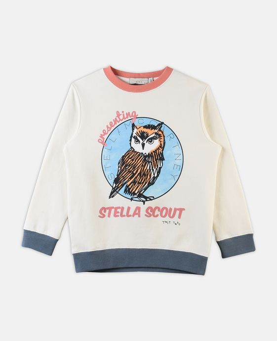 Betty Owl Print Sweater