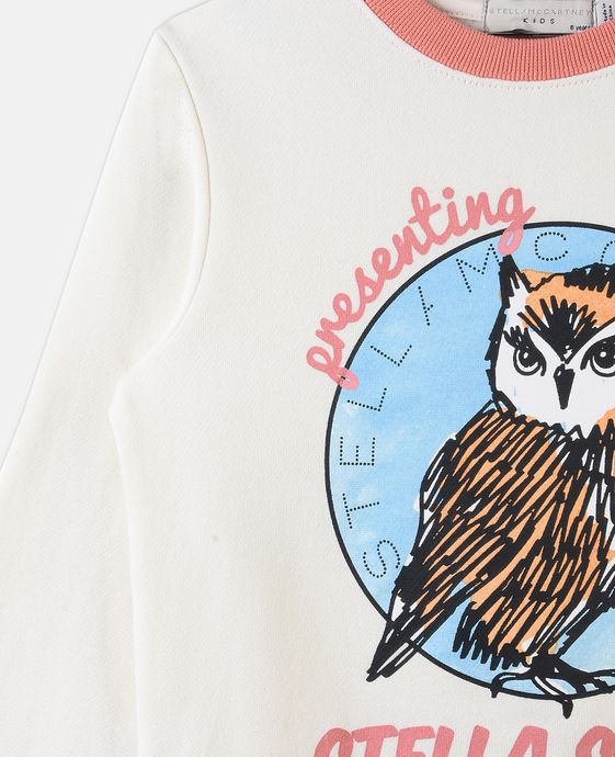 STELLA McCARTNEY KIDS Betty Owl Print Sweater Jumpers & Cardigans D h