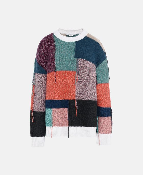 Patchwork Round Neck Jumper
