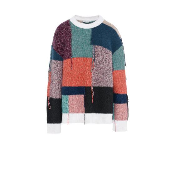 Patchwork Round Neck Sweater