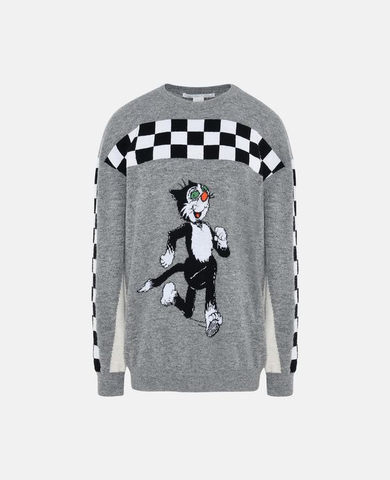 Grey The Dandy Print Jumper