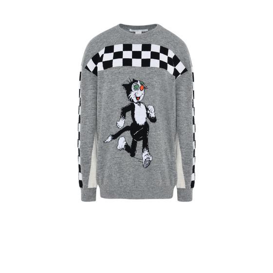 Gray The Dandy Print sweater