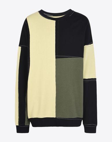 MAISON MARGIELA Sweatshirt U Sweatshirt en coton patchwork f