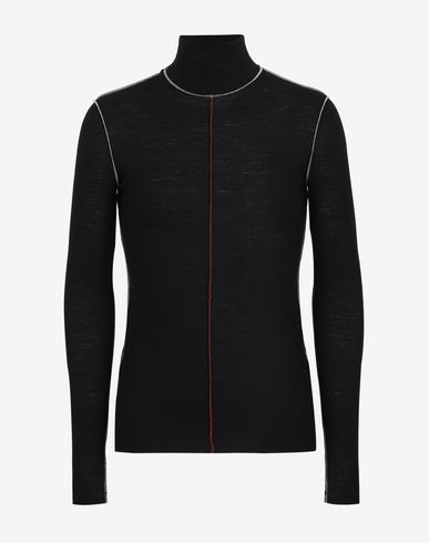 MAISON MARGIELA Long sleeve t-shirt U Wool rib knit turtleneck sweater f