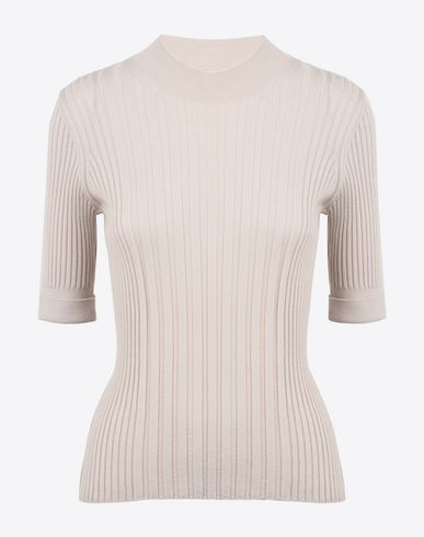 MAISON MARGIELA 4 Short sleeve jumper D Short sleeve rib knit sweater f
