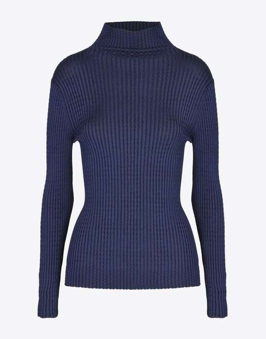 MAISON MARGIELA Rib knit turtleneck Long sleeve sweater Woman f