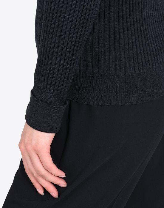 MAISON MARGIELA Rib knit V-neck sweater Long sleeve sweater Woman a
