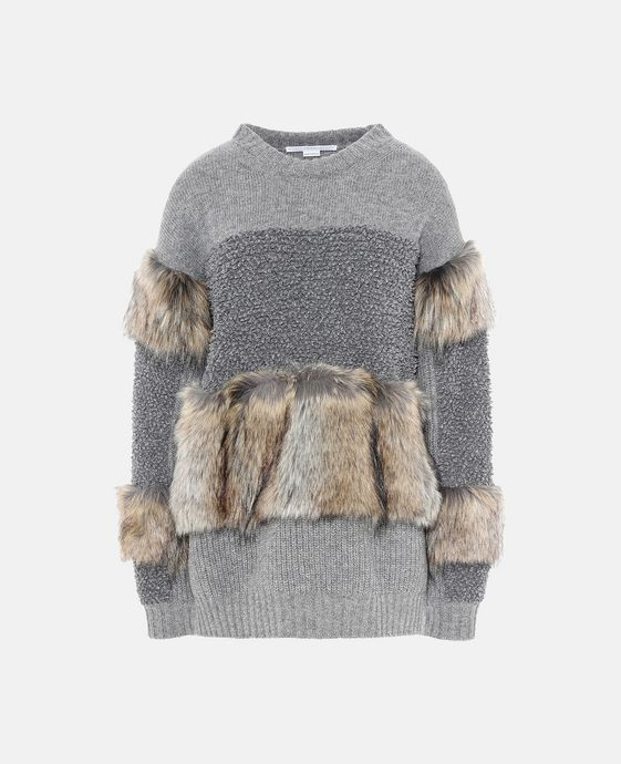 Fur Free Fur Crew Neck Sweater