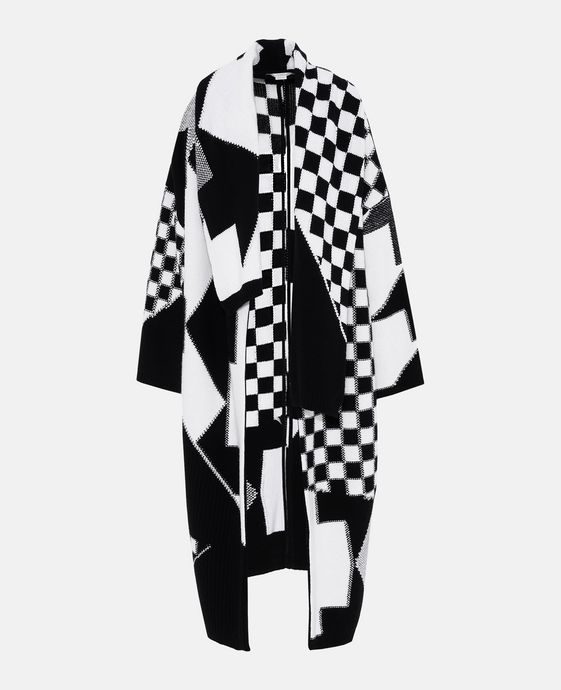 Black and White Check Cape
