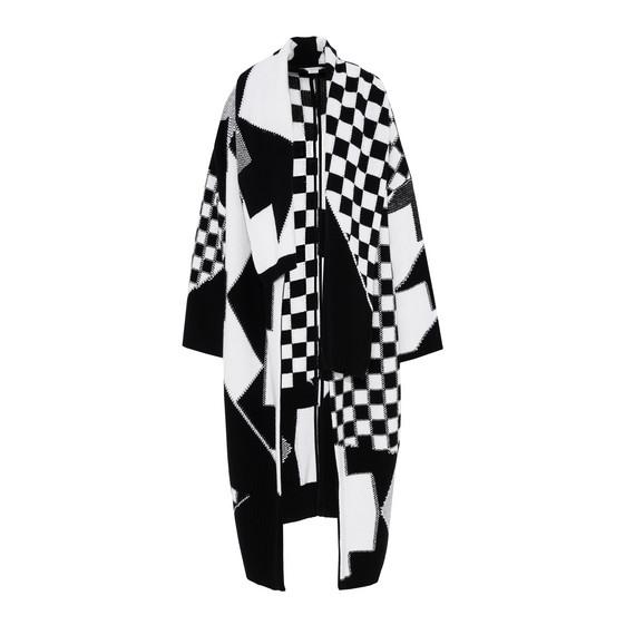 Black and White Check Cape