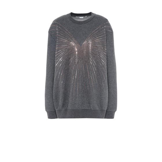 Gray Crew Neck Hot Fix sweater